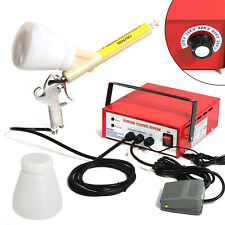 Powder Coating System Portable Electrostatic Spray Paint Gun Pc03 5 10 15psi Kit