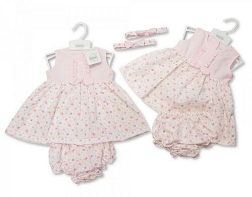 NEW Baby girls floral dress with knickers /& headband,summer dress 18-24 months.
