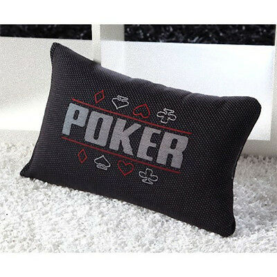Cuscino Poker Texas Hold'em Nero 45x25 Cm.