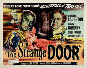 Image is loading The-Strange-Door-1951-Boris-Karloff-Horror-movie-  sc 1 st  eBay & The Strange Door (1951) Boris Karloff Horror movie poster 24x31 ...