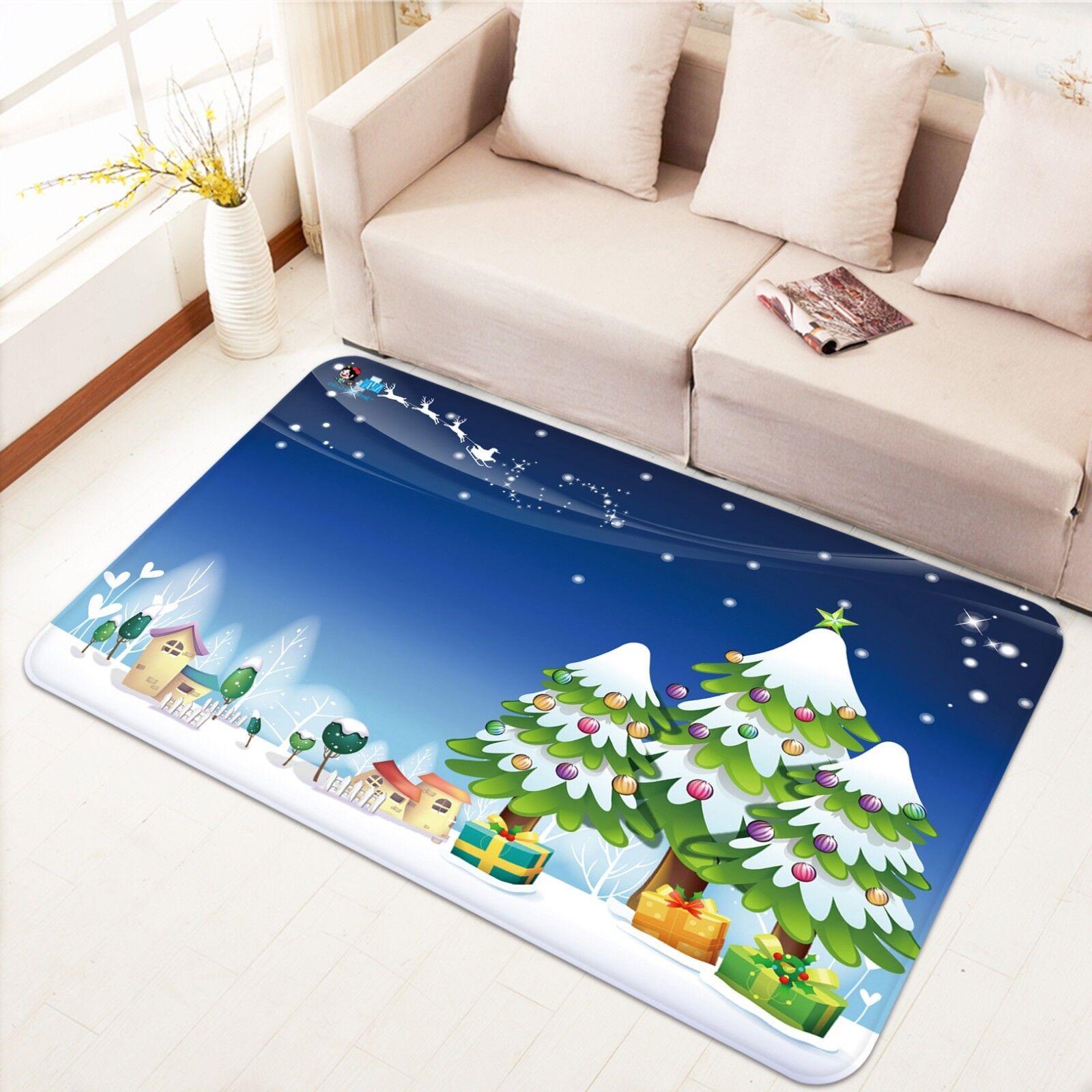 3d Natale Xmas 740 antiscivolo tappeto tappetino tappetino tappetino Borsaagliaio tappeto elegante de 68cd22