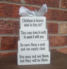 Christmas in Heaven what do they do wooden decoration blocks Christmas gift