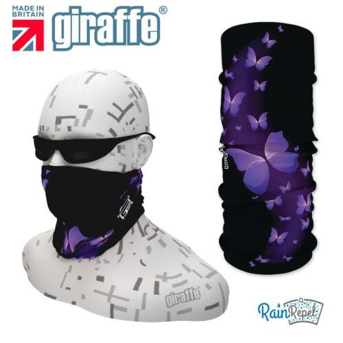 G324 violet papillons coiffure nuque multifonctionnel bandana bandeau