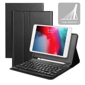 Fuer-iPad-2019-mini-5-mini-4-QWERTZ-Tastatur-Bluetooth-Keyboard-Case-Schutzhuelle