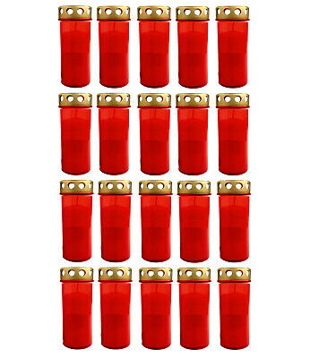 20x Grablicht Brenner Nr. 5 Rot | Grabkerzen | Öllicht Grabschmuck Dauerbrenner Der Preis Bleibt Stabil