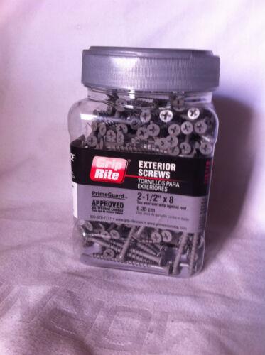 "Lot of 6 JAR Grip Rite Exterior Screws 2-1//2/"" x 8  2100 PC"