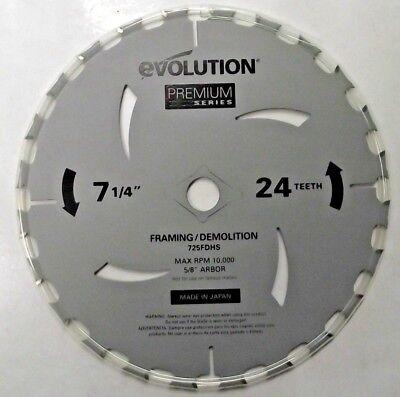 """Milwaukee 48-40-4120 7-1//4/"""" x 24 Carbide Tooth Framing Circular Saw Blade Japan"""