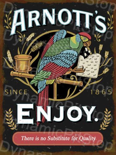 30x40cm Arnotts Biscuits Rustic Tin Sign or Decal