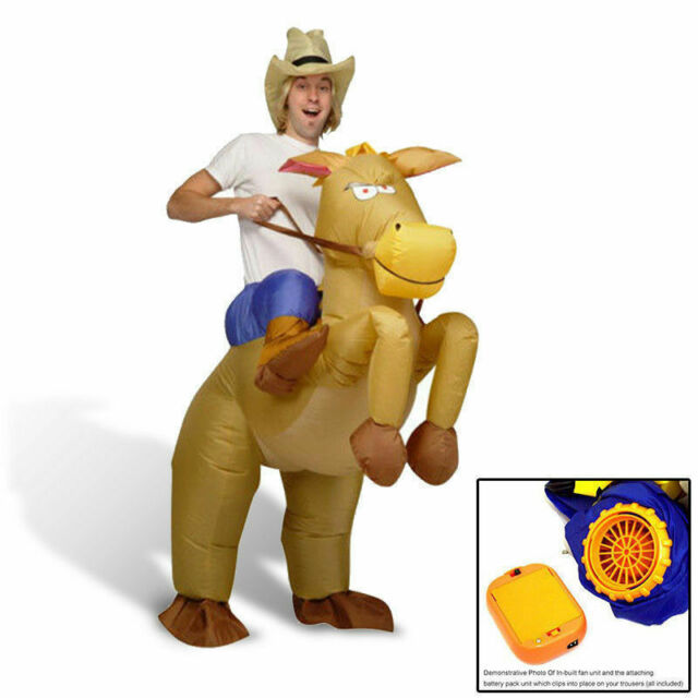 New Brand Inflatable Horse Cowboy Suit Halloween Fun Fancy Dress Costume AU Ship