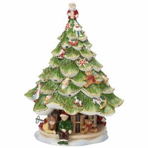 VILLEROY-amp-BOCH-Spieluhr-Christmas-Toys-Memory-Grosser-Tannenbaum-Porzellan-30cm
