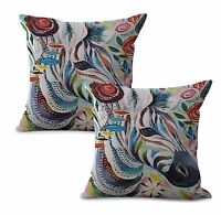 Us Seller-wholesale Pillow Covers Set Of 2 Animal Zebra Cushion Cover
