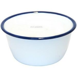 X6 Falcon Enamelware Pudding Basin Dish Cookware Oven Bake Ware 12cm 14cm 16cm Home, Furniture & Diy