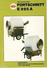 Fortschritt Landmaschinen Döbeln Steintrennanlage E 995 A Prospekt DDR 1985