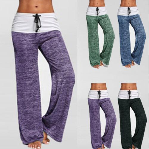 Waist Wide High Cotton Loose Linen Pants Trousers Elastic Womens Leg Summer 4TnxYWx