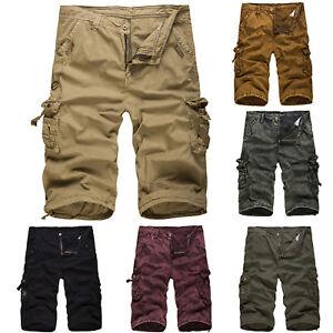herren camouflage cargo bermuda shorts kurz chino sportshose vintage army hosen ebay. Black Bedroom Furniture Sets. Home Design Ideas
