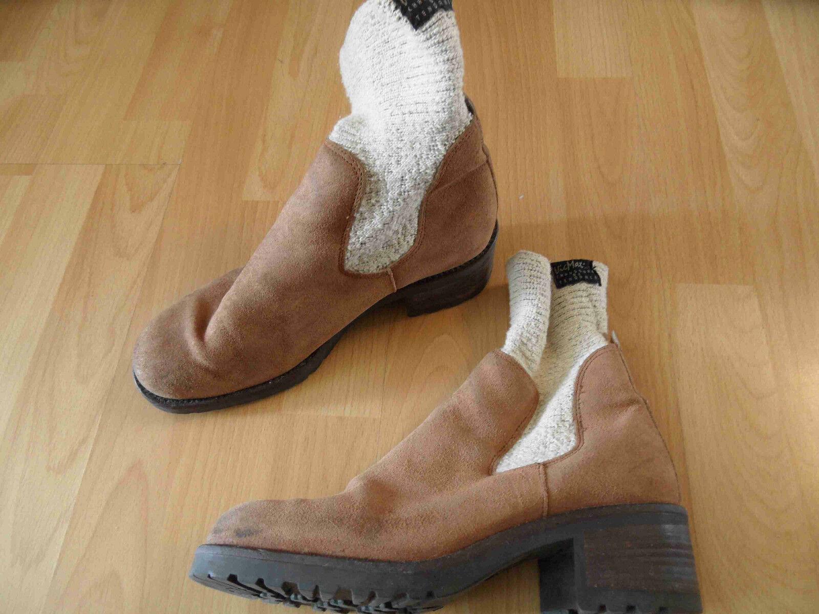 Vic genuina elegantes botines con cuerda caña Camel top 416
