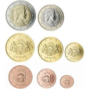 Série Lettonia 2014 IN Blister 8 Monnaies Euro Collection Complète