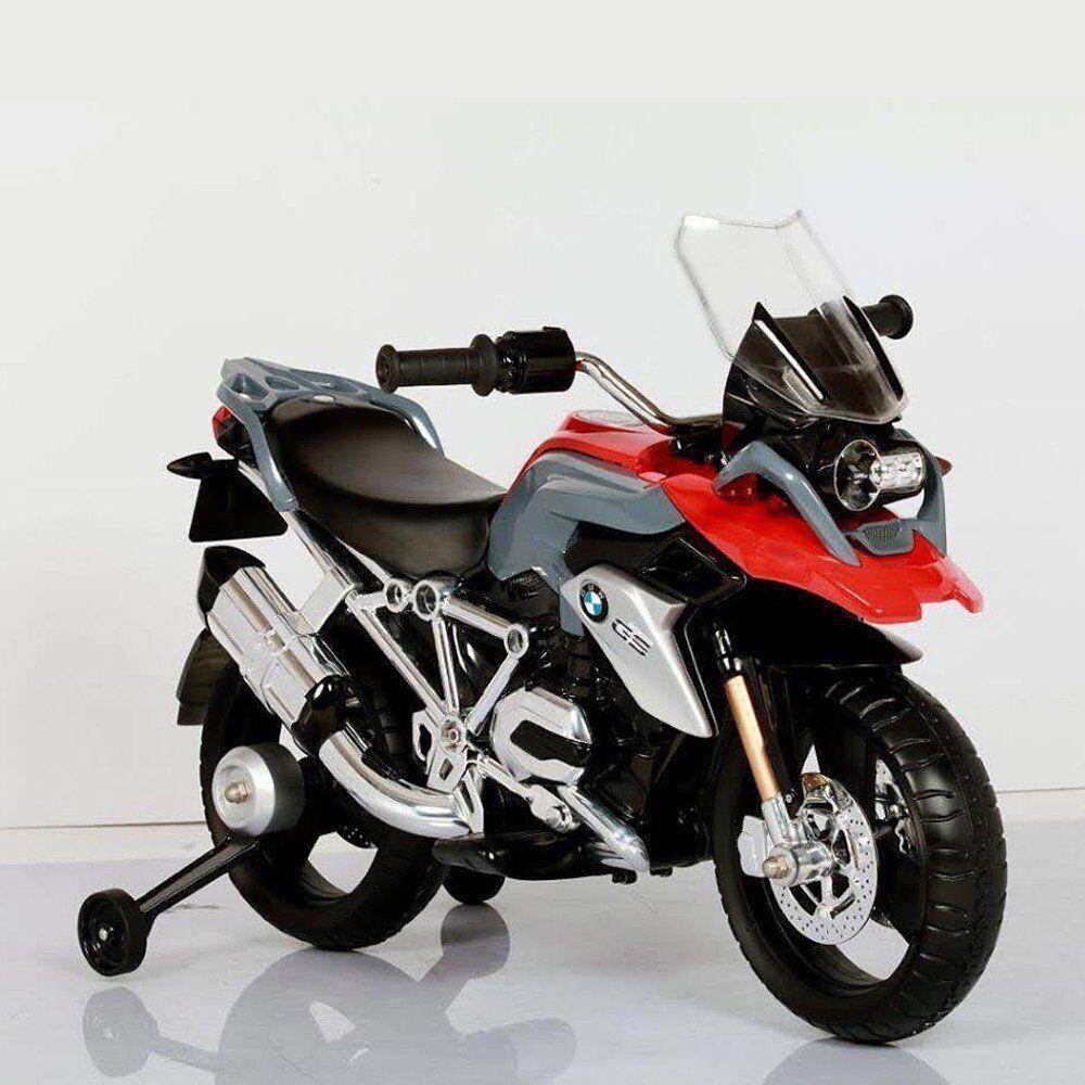 MOTO ELETTRICA BMW R 1200 GS PER BAMBINI 12 V RICARICABILE DESIGN REALISTICO