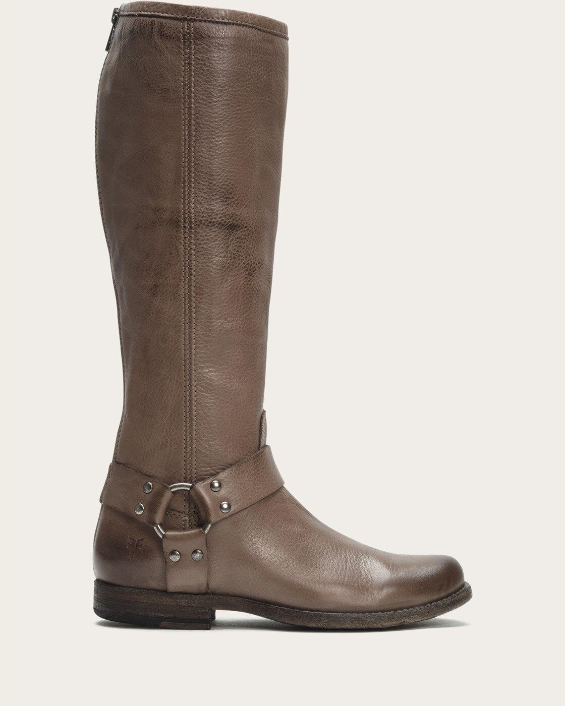 Frye Phillip Harness Tall Mujer Mujer Mujer gris bota 7566 Talla. 5.5B  barato y de alta calidad