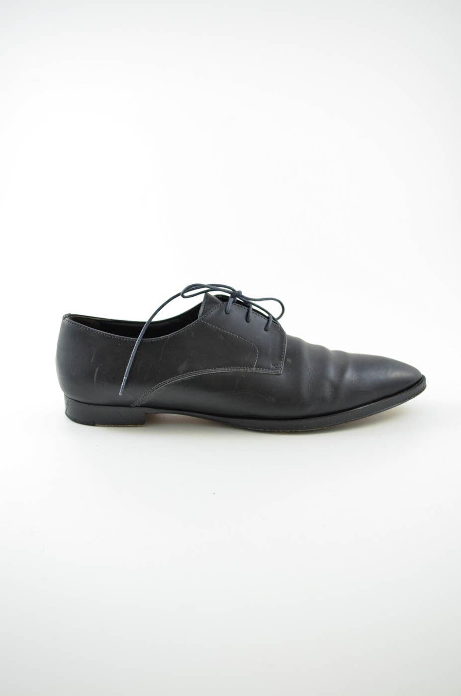 Jill Sander, mujer loafer, zapatos de cuero negro, talla 39,5.