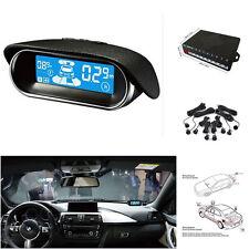 Dual-core Double LCD Display 8 Black Parking Sensor Car Reverse Radar Alarm Kit