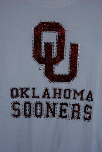 Oklahoma Sooners  rhinestone glitter bling shirt XS S M L XL XXL 1X 2X 3X 4X 5X