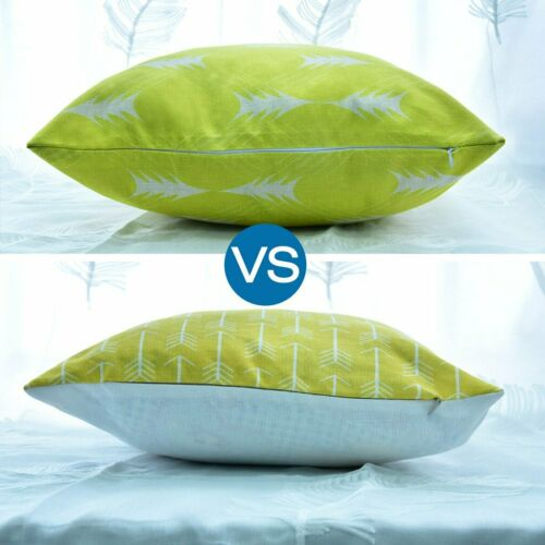 Mordern Art Double-sided Print Canvas Cushion Cover Pillow Case Home Decor CN