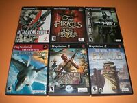 Lot Of 6 Ps2 Gms Complete Great Myst 3 Exile, Metal Gear Solid 2, Ace Combat