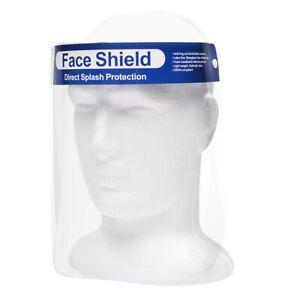 Visiera protezione unisex antispruzzo plastica con elastico professionale face