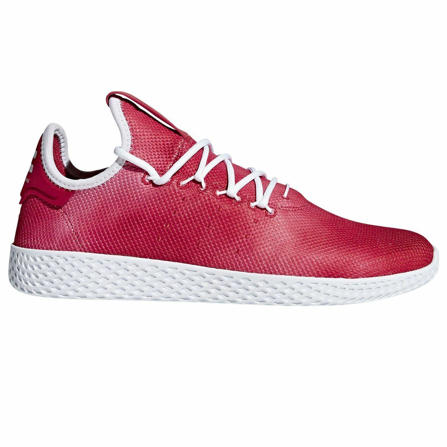 adidas PHARRELL WILLIAMS HU TENNIS SHOES rouge SNEAKERS TRAINERS RETRO NEW KICKS