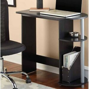small black desk computer compact home office laptop