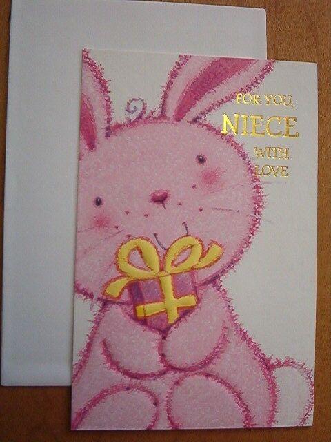 birthday cardniece pink engraving same day shipping  ebay