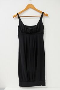 Kookai Womens Size 11 Black Shift Dress Sleeveless Knee Length Crew Neck