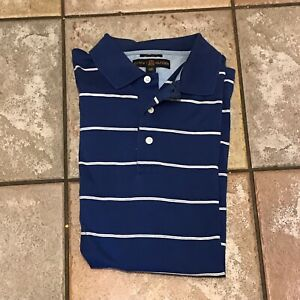 Vintage-Tommy-Hilfiger-Blue-White-Striped-Golf-Polo-Men-039-s-Shirt-Size-Large