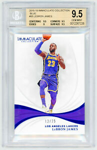 LEBRON-JAMES-2018-Panini-Immaculate-Collection-55-BLUE-25-BGS-9-5-GEM-MINT-LA