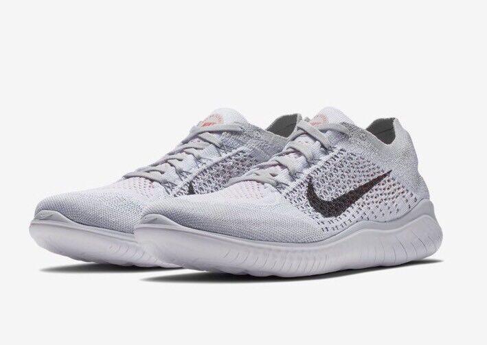 NEW Nike Free RN Run Flyknit 2018 Running Shoe Platinum/Black 942838-003 Sz 6.5