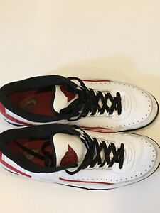the best attitude 08993 fa3c6 Details about Nike Air Jordan 2 II Low Retro Chicago White/Varsity  Red-Black SZ 13 832819-101