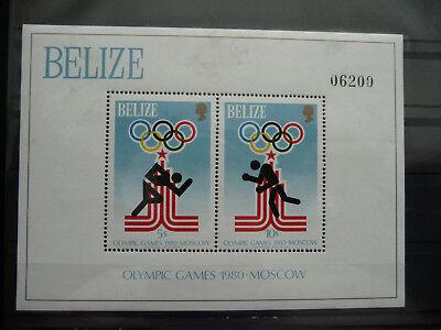 Offen Belize , Block 10 **, Olympiade Moskau ZuverläSsige Leistung