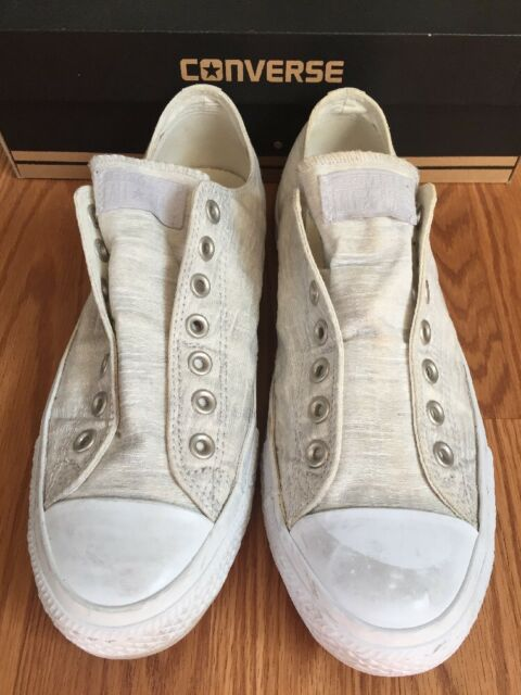 be0517a3cce29f Frequently bought together. Converse 9.5 Mens Frayless Slip White Mouse Chuck  Taylor Shoes