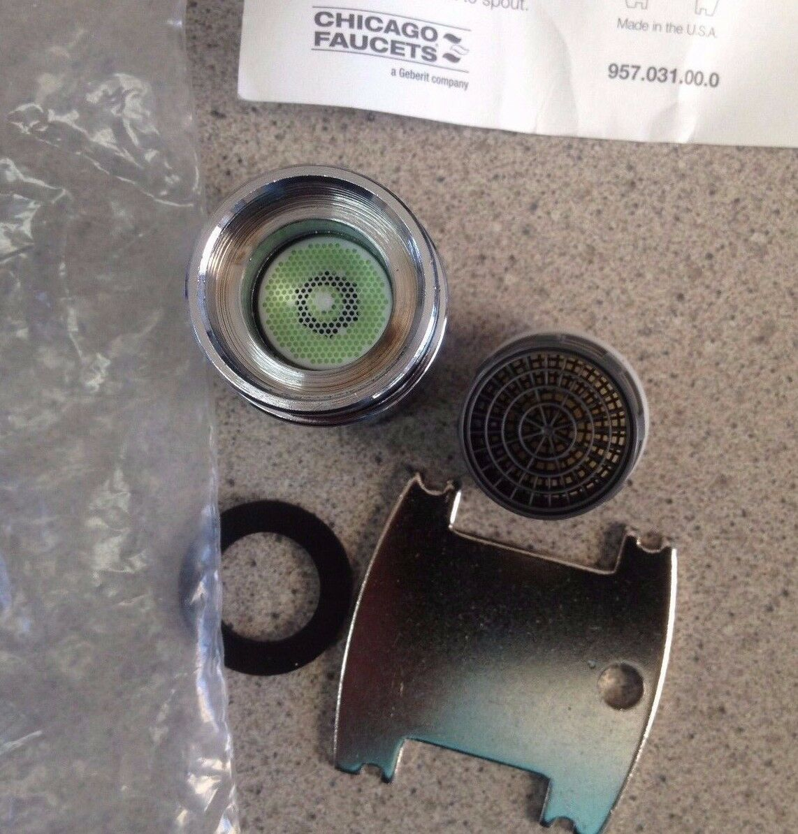 Chicago Faucets Aerator for Vandal Resistant Outlet Repair Part OEM ...