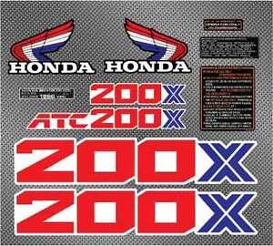 1986 86 HONDA ATC 200X DECALS GRAPHICS STICKER EMBLEM FENDER GAS TANK LIKE 85 87