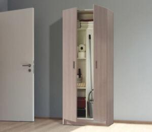 Mueble-Alto-Auxiliar-2-puertas-Mueble-Multiusos-Mueble-escobero-Roble