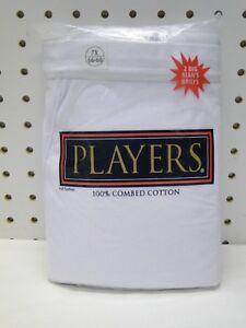 2pr Men/'s Players White Cotton Briefs Underwear 3X 50-52