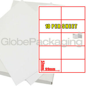 20 sheets of printer address labels 10 per page sheet