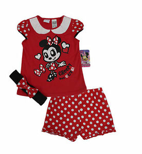 Image is loading BNWT-Girls-Disney-Minnie-Mouse-Halloween-Summer-Pyjamas- dd92b757d