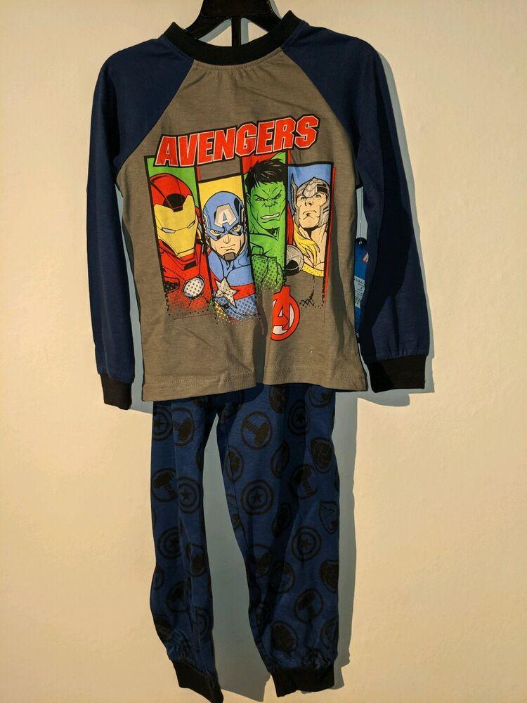 Adaptable Garçons Avengers Pyjama à Manches Longues Set Taille 3 4 5 6 7 8 9 10 Ans Nightwear 2019 Nouveau Style De Mode En Ligne