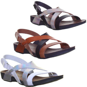 Justin Reece Ladies Womens Leather Footbed Sandal Open Toe Sandal Size UK 3-8