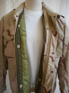 ISRATEX COAT COLD WEATHER FIELD CLASS 4 WITH LINER L-R DESERT CAMO ... 501dc3d6771