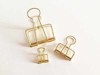 1 / 2 pcs Metal Binder Clips Gold Korean Stationery Bookmarks Cute Planner