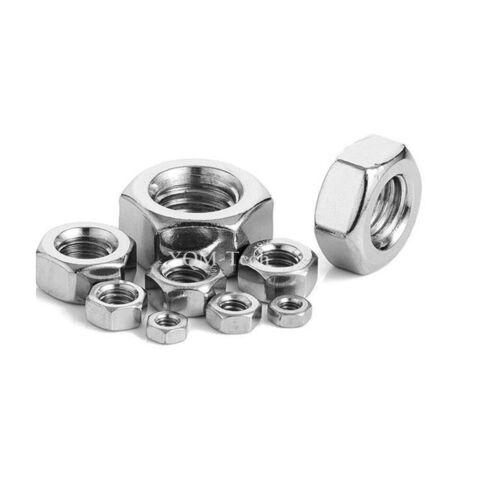 Metric Stainless Steel Hex Nuts DIN 934 M2 M2.5 M3 M3.5 M4 M5 M6 M8 M10